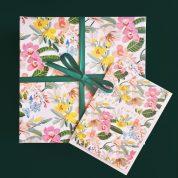 tropical flowers wrap